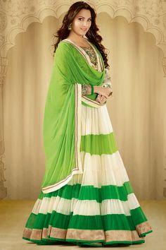 Bollywood Actress Lara Dutta Inspired Latest Party Wear Salwar Kameez