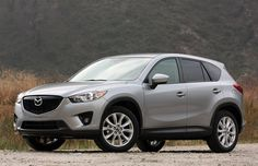 2013 Mazda CX-5 - silver, front three-quarter view