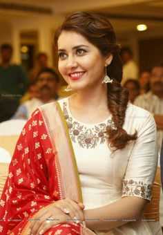 Rashi Khanna in Salwar Dress - Raashi Khanna at Santosham 2015 Curtain Raiser Image 3 Lehenga Designs, Kurti Designs Party Wear, Salwar Designs, False Ceiling Design, Pop Design, Dress Neck Designs, Blouse Designs, Designer Party Wear Dresses, Indian Designer Suits