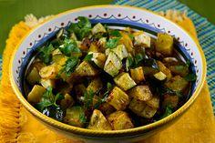 Italian Food Forever » Roasted Potatoes, Zucchini, Onions & Pancetta