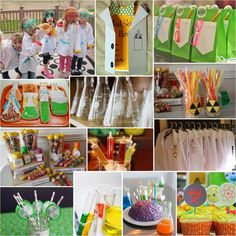 Mad scientist birthday party  http://intertwinedevents.com/blog/#