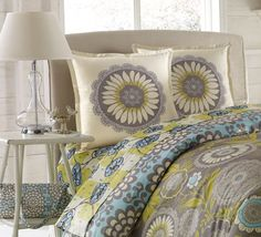 Amy Butler Lce Work Duvet set - i love these pillow cases - not so gone on the duvet covers but the sheets are cute