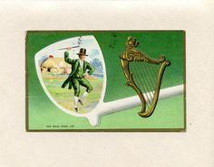 Vintage St. Patrick's Day Postcard Irish Man in by datedpaper