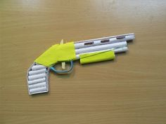 How to Make a Paper Gun (1887)that shoots Rubber Bands - Easy Tutorials