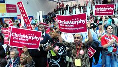 New Haven delegates cheer for Chris Murphy at the Connecticut Democrats 2012 State Convention at Central Connecticut State University in New Britain on Photo by Arnold Gold/New Haven Register New Britain, Media Center, State University, Connecticut, Cheer, Politics, Gold, Humour, Political Books