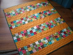 It's so much fun making a baby quilt, especially if you don't overthink things. I dove into this one with a jelly roll that was given to me ...