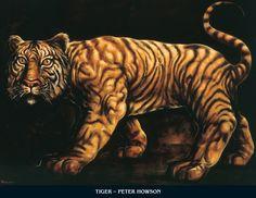 Tyger by Peter Howson Peter Howson, Animal Painter, 2 Peter, Gcse Art, Oil On Canvas, Art Prints, Artwork, Animals, Artists