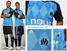 Olympique Marseille 2008-9 away kit. Via Switch Image Project.