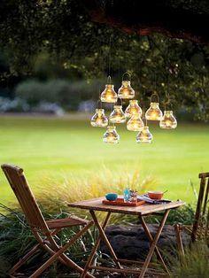 Inspirerande sätt att arrangera stämningsfull utebelysning - Sköna hem