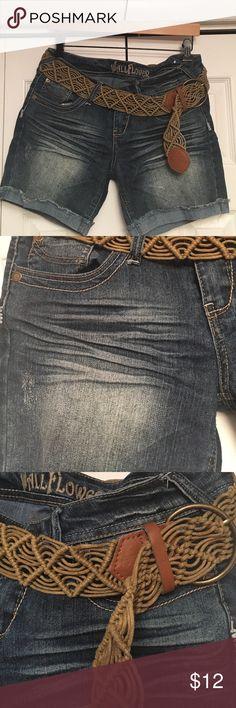 """Wallflower"" Denim Shorts These ""Wallflower"" denim shorts come with a cute brown belt.  Wallflower Shorts Jean Shorts"