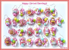 Happy Circus Earrings by ~Bojo-Bijoux on deviantART