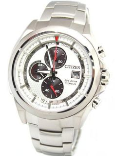 Citizen Mens Eco Drive Titanium Chronograph Watch - In Stock, Free Next Day Delivery, Our Price: Buy Online Now Citizen Eco, Citizen Watch, Seiko, Casio Watch, Fashion Watches, Chronograph, Watches For Men, Mens Fashion, Stuff To Buy