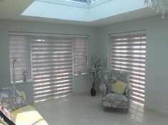 Grey Duplex blinds in living room fitted by us Vertical Window Blinds, Blinds For Windows, Curtains With Blinds, Living Room Blinds, House Blinds, Discount Blinds, Cheap Blinds, Cellular Blinds, Blackout Blinds