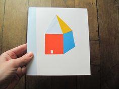 mooi basic huisje in bijzonder prettige kleurencombi  Paper cut House - van Steffie Brocoli