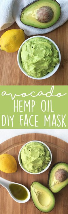 DIY Avocado Hemp Oil Face Mask Recipe! 3 simple ingredients, all nourishing for your skin. This homemade face mask is hydrating, battles acne, and may also help reduce the appearance of scars and redness.