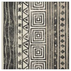 Motif géométrique africain tissu