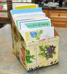 Recycling cereal boxes for organizing