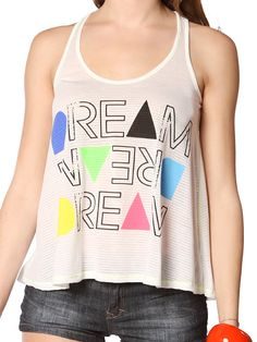 Papaya Clothing Online :: DREAM DREAM DREAM GRAPHIC TOP US$12.99