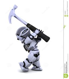 Robot With Hammer Stock Images - Image: 16506664
