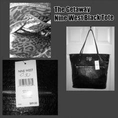 I just discovered this while shopping on Poshmark: Nine West Black Tote Bag. Check it out!  Size: medium