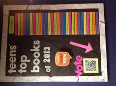 Top ten books bulletin board idea