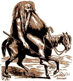 The Demon Forcas as depicted in Collin de Plancy's Dictionnaire Infernal, 1863 edition.