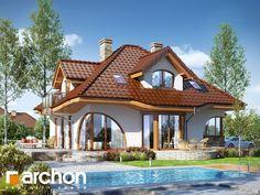 Projekt: Dom w zefirantach 2 on Behance Bungalow Haus Design, Modern Bungalow House, Bungalow House Plans, Small House Interior Design, Dream Home Design, My Dream Home, Dream Homes, Terrace House Exterior, Tiny House Exterior