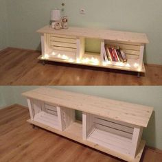 Awesome DIY projects are available on our website. Have a look and you will not be sorry you did. #DIY Pallet Furniture, Furniture Projects, Home Projects, Furniture Storage, Furniture Redo, Wood Storage, Modern Furniture, Storage Crates, Pallet Projects