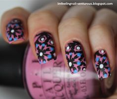 I'M FEELING NAIL-VENTUROUS: OPI Sparrow me the Drama with stamping
