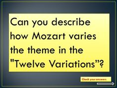 FORM in MUSIC: Theme and Variation  ppt