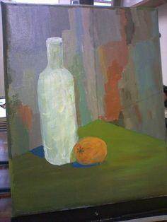 pintura de modelo com cores primárias e branco