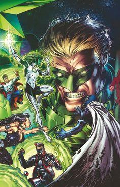 Hal Jordan Parallax Batman, Superman, Dc Comics, Alan Scott, Comic Art, Comic Books, Mark Bagley, Univers Dc, Green Lantern Corps