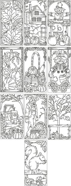 Embroidery Designs Patterns simple craft for a lazy fall Saturday - color and laminate to make bookmarks :) Coloring Book Pages, Coloring Sheets, Machine Embroidery Designs, Embroidery Patterns, Zentangle, Advanced Embroidery, Copics, Coloring For Kids, Digital Stamps