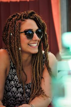 White girl with box braids #boxbraids #x-pression27 #protectivehairstyle