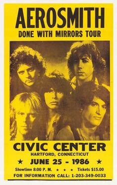 Aerosmith - Hartford Civic Center, CT 1986