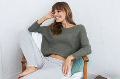 Aerie Breezy Pullover Sweater  by  American Eagle Outfitters | Wear happy vibes and an easy layering sweater everywhere.  Shop the Aerie Breezy Pullover Sweater  and check out more at AE.com.