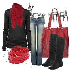"""Blushing Reds"" by anne-ratna on Polyvore"
