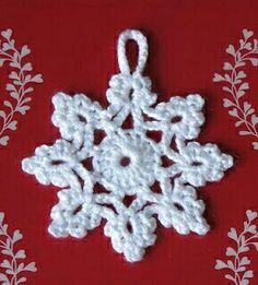 54 Ideas crochet christmas snowflakes pattern link for 2019 Crochet Snowflake Pattern, Christmas Crochet Patterns, Crochet Stars, Crochet Motifs, Holiday Crochet, Crochet Snowflakes, Christmas Snowflakes, Crochet Flowers, Christmas Knitting