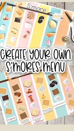 S'mores Bar, Bar Menu, Fun Foods To Make, Food To Make, Camping Meals, Kids Meals, Grilling Recipes, Cooking Recipes, Extra Recipe