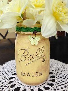 distressed mason jar vase and distressed mason jar luminary diys, crafts, mason jars, painting