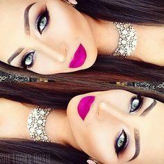 pink lips all song Sexy Makeup, Flawless Makeup, Glam Makeup, Gorgeous Makeup, Love Makeup, Beauty Makeup, Hair Makeup, Elegant Makeup, Makeup Box