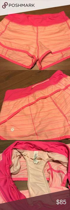 Lululemon Women's Parfait Pink Shorts Rare Parfait Pinkelicious Print, like new lululemon athletica Shorts