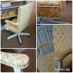 Office Redo – How to Reupholster a Chair that I bought for $5