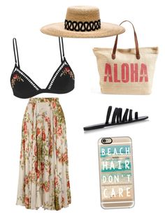 """beachy bum"" by mikai-toot on Polyvore featuring Zimmermann, Ancient Greek Sandals, Rip Curl, Gucci, Eugenia Kim and Casetify"