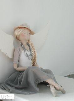 Tilda Angel Kamelia handmade doll