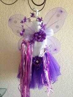 Purple and Pink Tutu Fairy Princess Dress Up Set. $19.99, via Etsy...make/buy--its handmade!