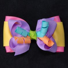 Fairy Sherbert Bowtie Boutique Hair Bow - cute idea for extra korker scraps