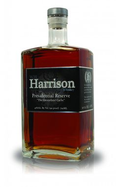 "Harrison Presidential Reserve Bourbon: ""The Grouseland Cache"" Cigars And Whiskey, Scotch Whiskey, Whiskey Bottle, Alcohol Bottles, Liquor Bottles, Perfume Bottles, Whiskey Distillery, Whisky Bar, The Distillers"