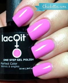 LacQit One Step Gel Polish New Hot Color ,Run for the Pink! Get this same look on your nails or toes in just minutes at home! 1 Bottle,1 Step, Instantly Dry to the Touch with No Tackiness to Wipe! The First Ever! LacQit!