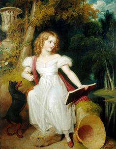 Title: Queen Victoria as a Girl, 1830 Artist: Richard Westall Medium: Hand-Painted Art Reproduction
